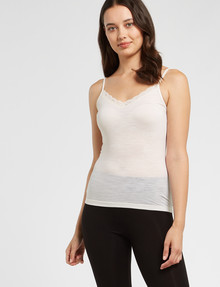 Lyric Thermals Sonata Merino Cami, Ivory product photo