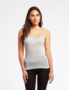 Lyric Thermals Melody Merino Cami, Pale Grey Marle product photo