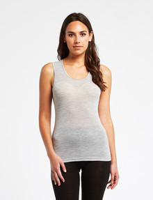 Lyric Thermals Melody Merino Singlet, Pale Grey Marle product photo