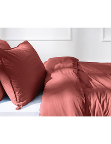 Haven Home 250 Thread Count Vintage Wash Duvet Cover Set, Clay product photo