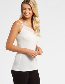 Lyric Thermals Mia Bamboo Cami, Ivory product photo