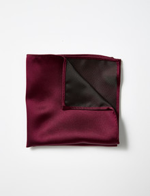 Laidlaw + Leeds Pocket Square, Burgundy product photo