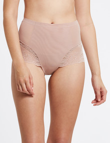 Acapella Lace Smoothing Brief, Peony product photo