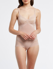 Acapella Lace Smoothing Bodysuit, Peony product photo