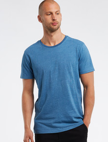 Tarnish Indigo-Dyed Tee, Light Blue product photo