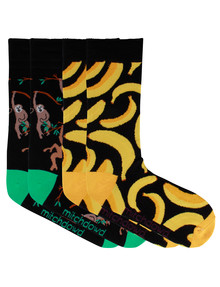Mitch Dowd Jungle Fashion Sock, 2-Pack, Black product photo