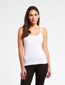 Lyric Thermals Harmony Cotton Pointelle Cami, White product photo