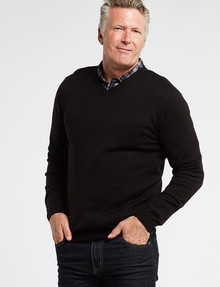 Chisel Jamie V-Neck Sweater, Black product photo