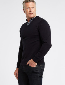 Chisel Jamie V-Neck Sweater, Navy product photo