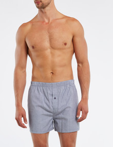 Chisel Cotton Boxer Short, 2-Pack, Navy & White product photo