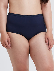 Lyric Curve Jacquard Full Brief, Navy product photo