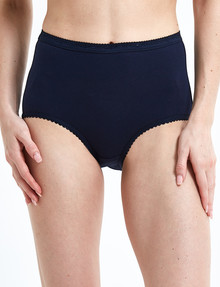 Lyric Jacquard Full Brief, Navy product photo