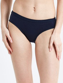 Lyric Jacquard Bikini Brief, Navy product photo