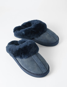 Mi Woollies Te Anau Scuff Slipper, Navy product photo
