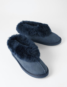 Mi Woollies Padabout Slipper, Navy product photo