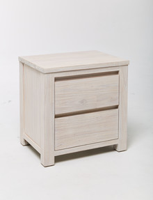 Luca Malibu 2-Drawer Bedside Table product photo