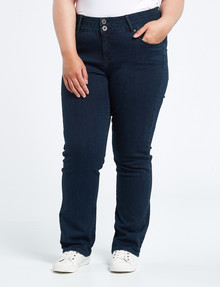 Denim Republic Curve Straight Leg Jean, Dark Wash product photo