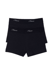 Hanes Shortie, Black, 2-Pack product photo