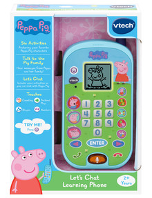 Vtech Peppa Pig Lets Chat Learning Phone product photo