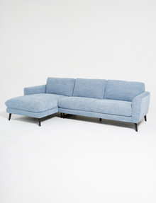 LUCA Lennox 2.5 Seater Sofa with Left-Hand Chaise, Marine Blue product photo