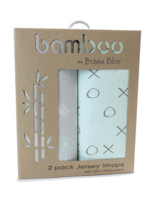 Bubba Blue Bamboo Jersey Wraps, 2-Pack, Mint Meadow product photo