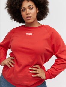 Levis Plus Relaxed Graphic Crew Sweatshirt, Brilliant Red product photo