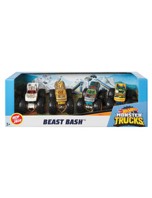 Hot Wheels 1:64 Scale Monster Trucks, 4-Pack, Assorted product photo