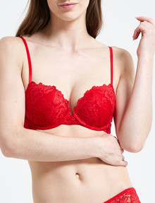 Perfects Brazilian Push Up Bra, Red product photo