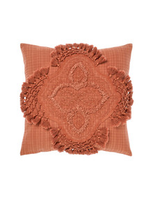 Linen House Alli Cushion, Baked Clay product photo