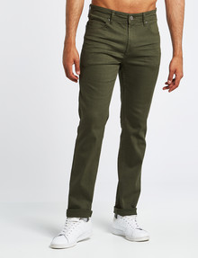Gasoline Oval Coloured Denim Jean, Khaki product photo