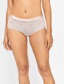 Berlei Barely There Lace Full Brief, Nude Lace product photo