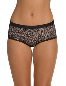 Berlei Barely There Lace Full Brief, Black product photo