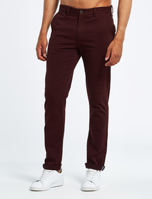 Gasoline Spitalfields Slim-Fit Chino Pant, Wine product photo
