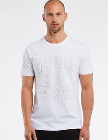 Tarnish Embossed NYC Tee, White product photo