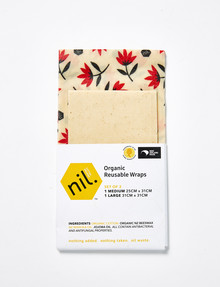 NIL Organic Beeswax Food Wrap, 2-Pack, Red, Assorted product photo