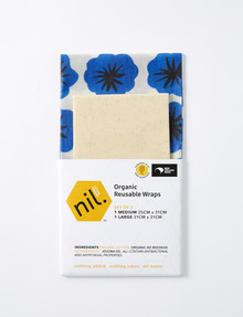 NIL Organic Beeswax Food Wrap, 2-Pack, Blue, Assorted product photo