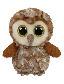 Ty Beanies Boo Percy Barn Owl, Medium product photo