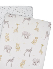 Little Textile Crib Jersey Fitted Sheet, 2-Pack product photo