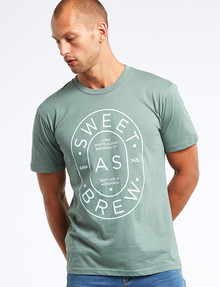 Mr Vintage Sweet As Brew Tee, Sage product photo