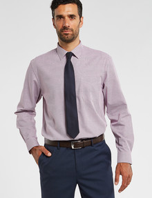 Chisel Formal Long-Sleeve Jacquard Houndstooth Shirt, Pink product photo