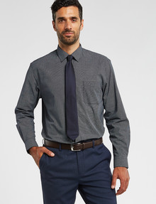 Chisel Formal Long-Sleeve Spot Dot Print Shirt, Navy product photo
