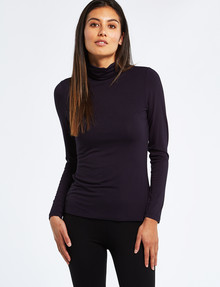 Bodycode Roll-Neck Long-Sleeve Tee, Eclipse product photo