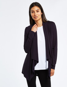 Bodycode Drapey Open-Front Cardi, Eclipse product photo