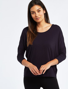 Bodycode 3/4 Sleeve Batwing Tee, Eclipse product photo