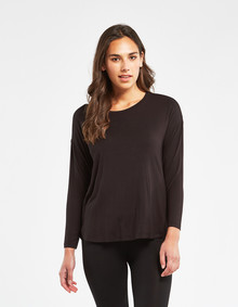 Bodycode Long Sleeve Boxy Tee, Black product photo