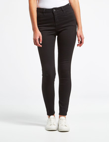 Denim Republic Stretch Skinny Jean, Black product photo