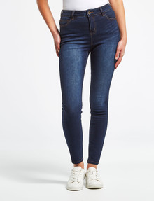 Denim Republic Stretch Skinny Jean, Dark Blue Wash product photo