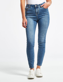 Denim Republic Stretch Skinny, Mid Blue Wash product photo