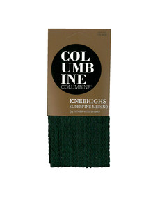 Columbine Classic Cable Merino-Blend Knee-High, Black product photo