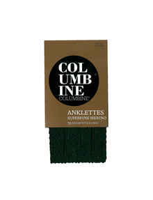 Columbine Classic Cable Merino-Blend Anklet, Black product photo